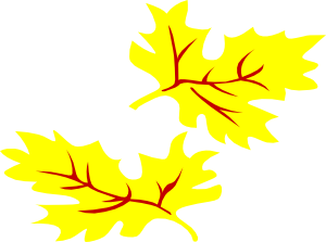 free vector Fall Coloured Leaf clip art