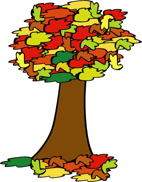 free vector Fall Coloured Tree clip art