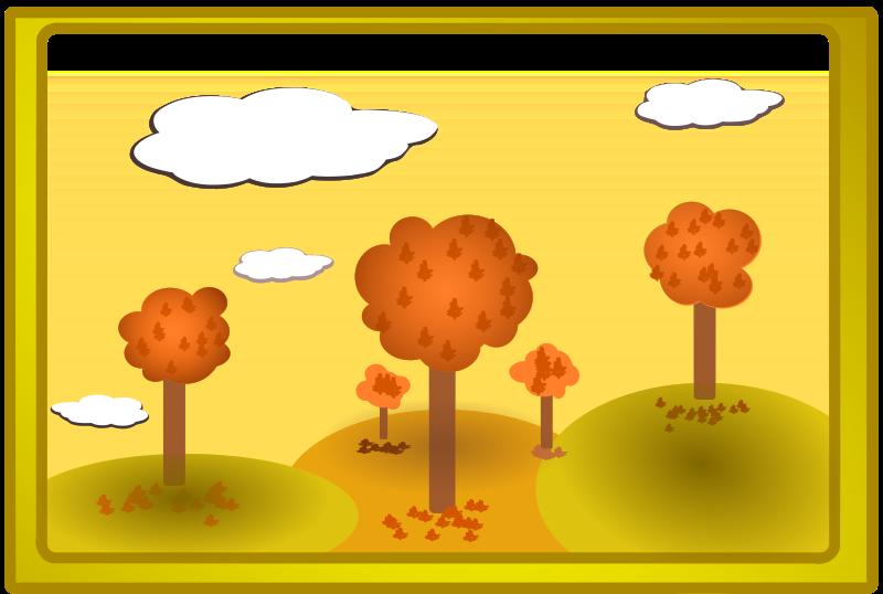 free vector Fall landscape 3