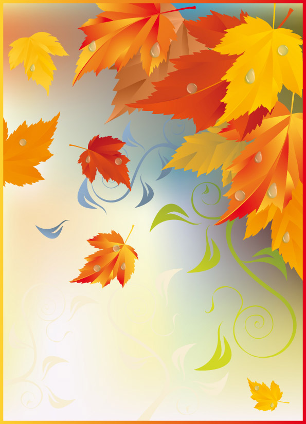 free vector Fall Leaves Vector