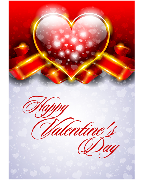free vector Fancy valentine background 01 vector