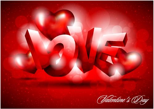 free vector Fancy valentine background 02 vector