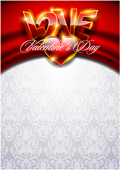 free vector Fancy valentine background 03 vector