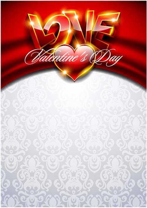 free vector Fancy valentine background 03 vector
