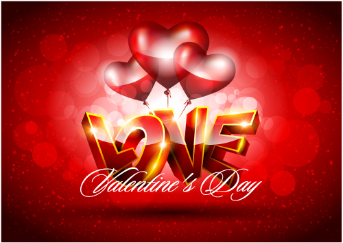 free vector Fancy valentine background 04 vector