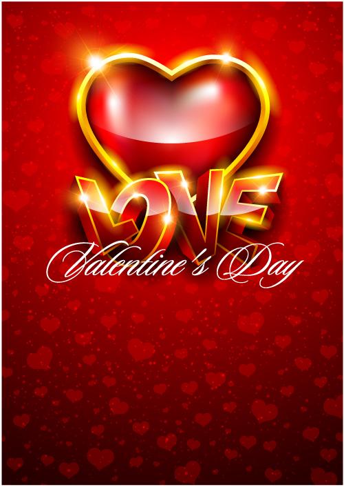 free vector Fancy valentine background 05 vector
