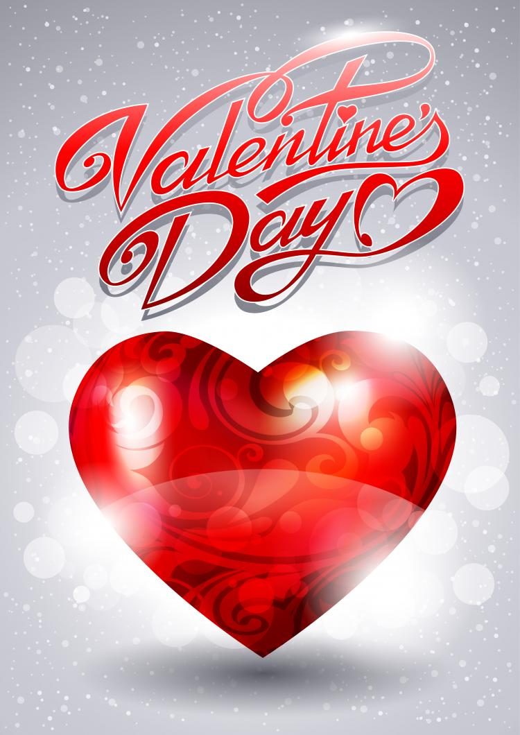 free vector Fancy valentine39s day greeting card 02 vector