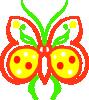 free vector Farfalla Stilizzata clip art