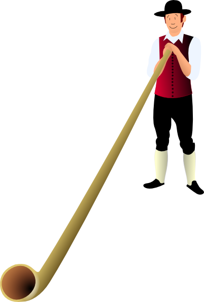 free vector Farmer With A Long Pipe clip art