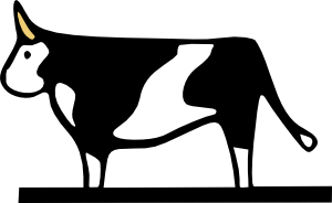 free vector Farming Cow clip art