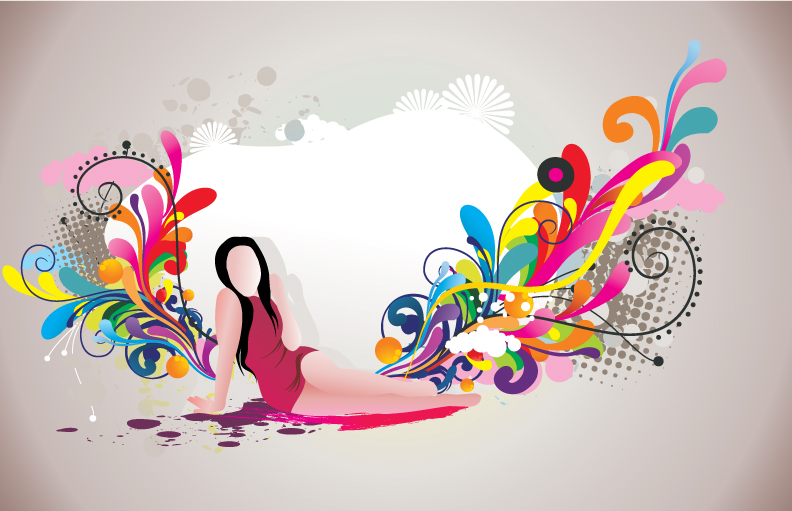 free vector Fashion and beauty pattern 01 vector
