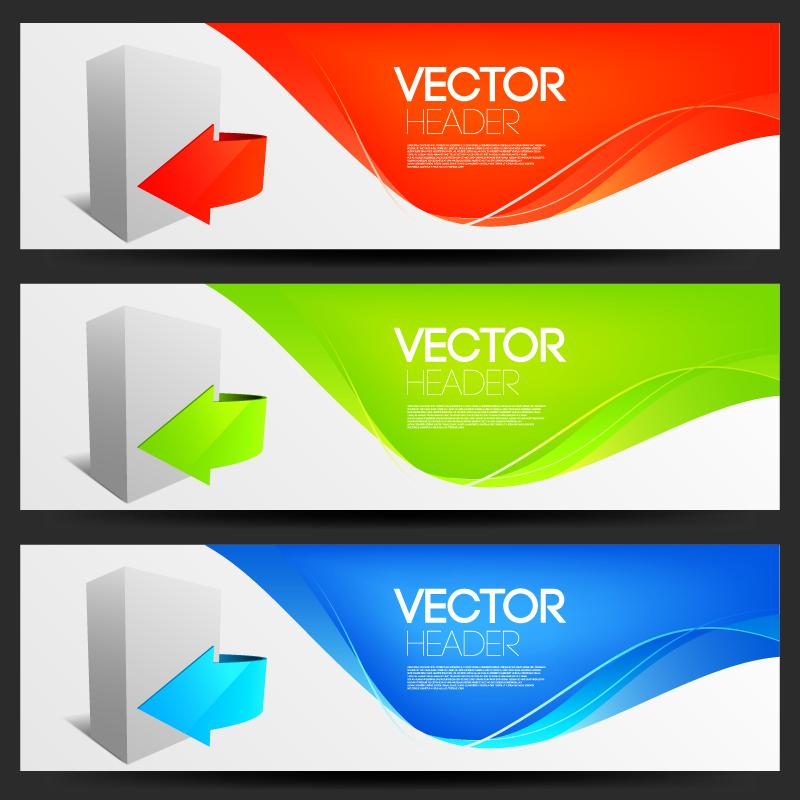 Fashion banner design vector 2 arrow Free Vector / 4Vector