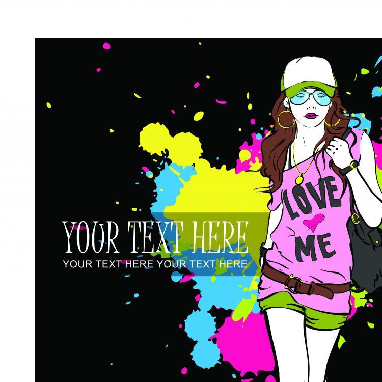 free vector Fashion beauty 01 vector