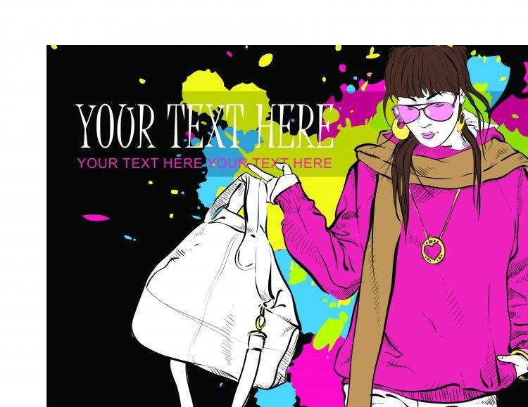 free vector Fashion beauty 04 vector
