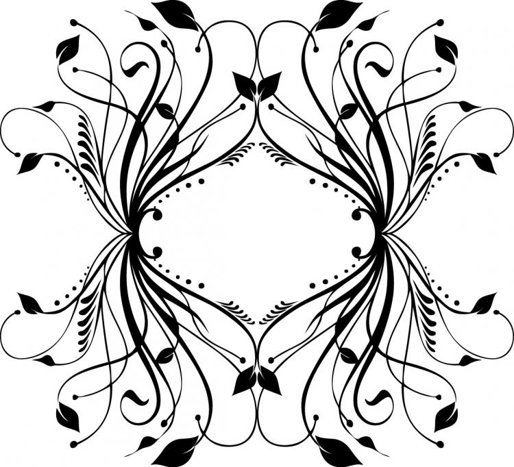 free vector Fashion black-and-white pattern element vector material
