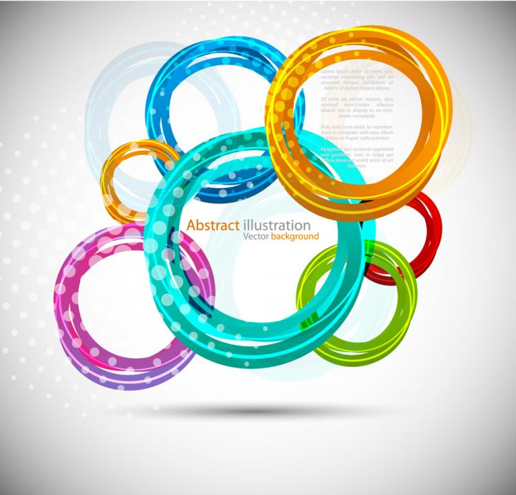 free vector Fashion circle 02 vector