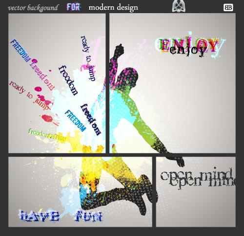 free vector Fashion color splash background 02 vector