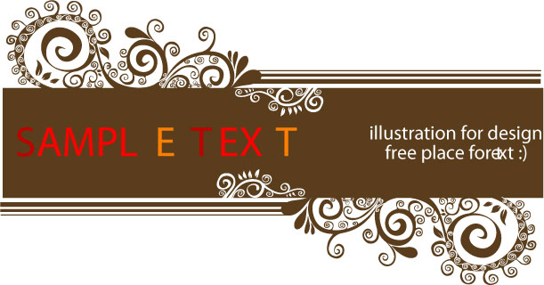 free vector Fashion design decorative patterns
