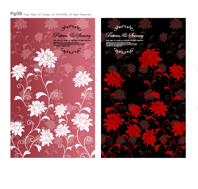 free vector Fashion flower pattern background vector