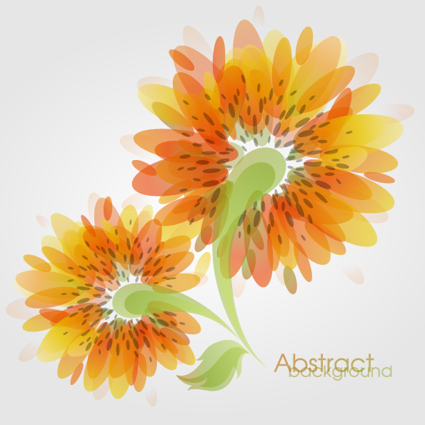 free vector Fashion flowers vector 2
