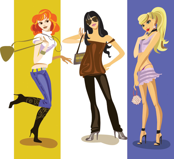 Fashion Girl Vector Free Vector 4vector