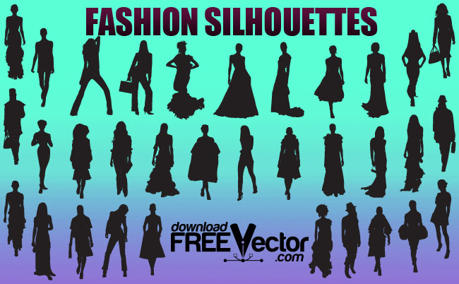 free vector Fashion Girls Silhouettes