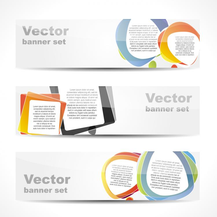 free vector Fashion glossy banner 03 vector