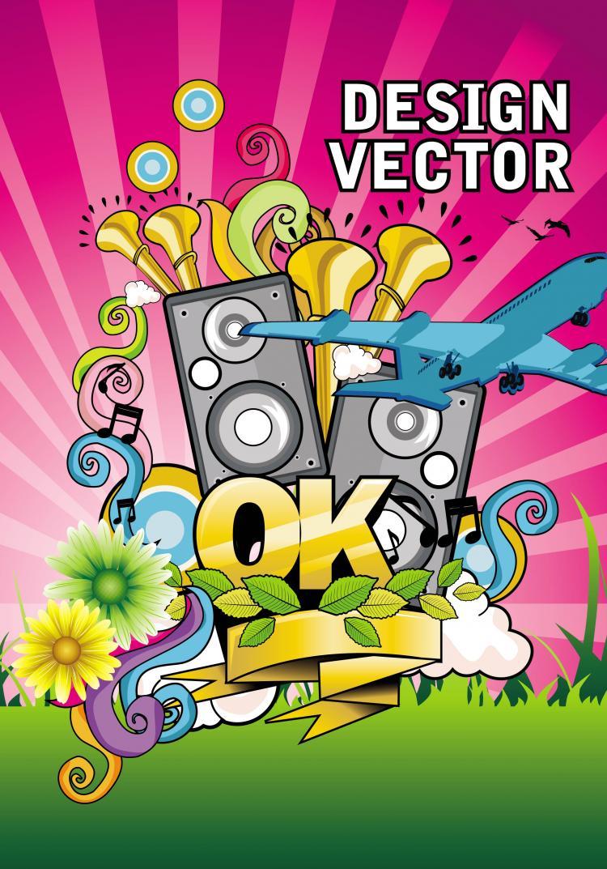 free vector Fashion illustrator 02 vector