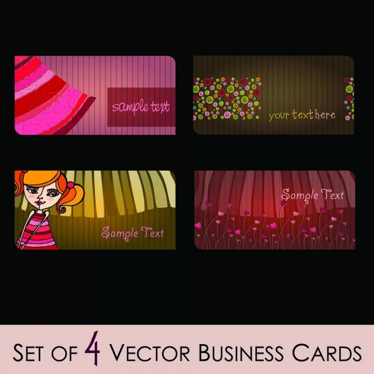 free vector Fashion illustrator business card 02 vector