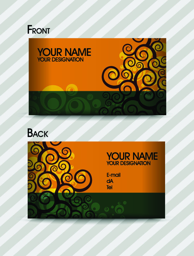 Fashion pattern business card template 03 vector Free Vector / 4Vector