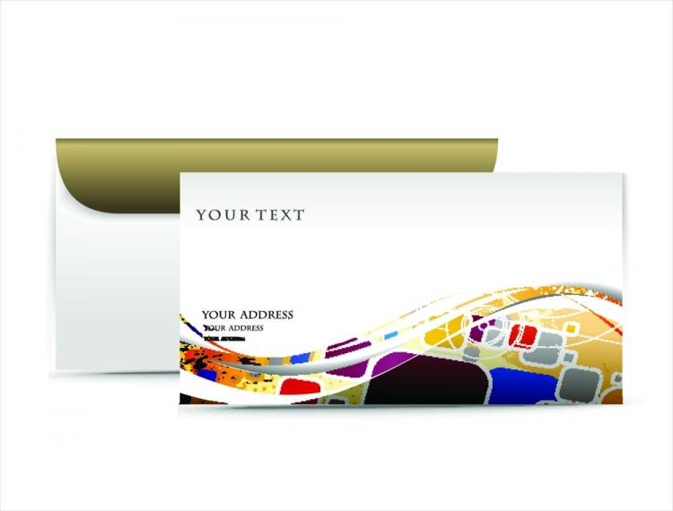 free vector Fashion pattern envelope 02 vector