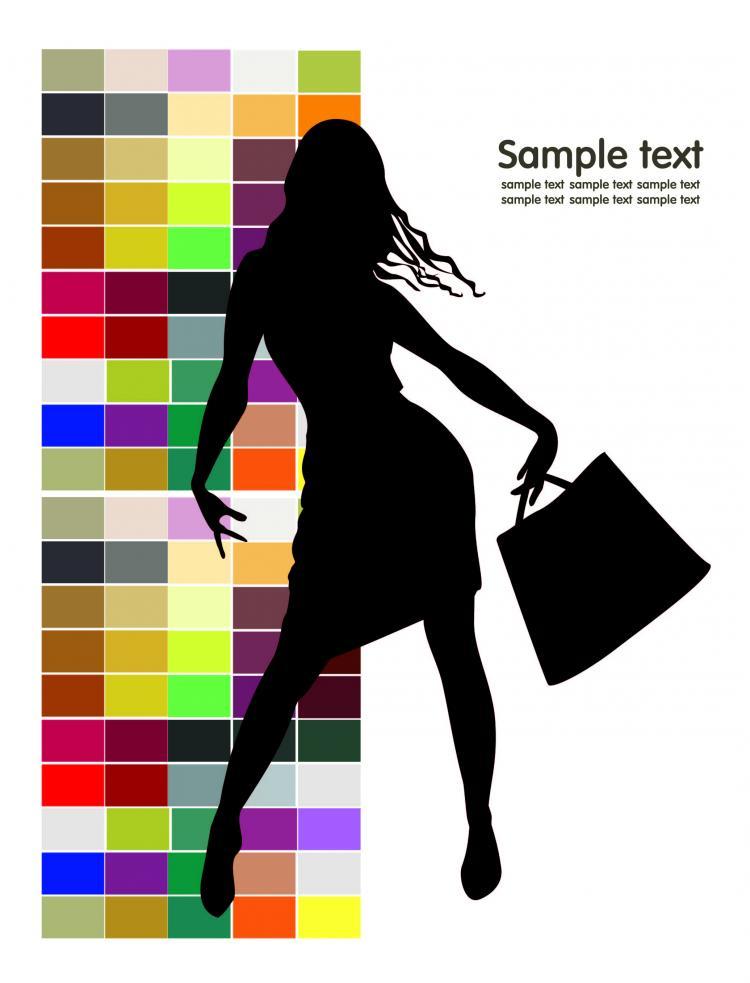 Fashion shopping beauty silhouette 02 vector Free Vector / 4Vector
