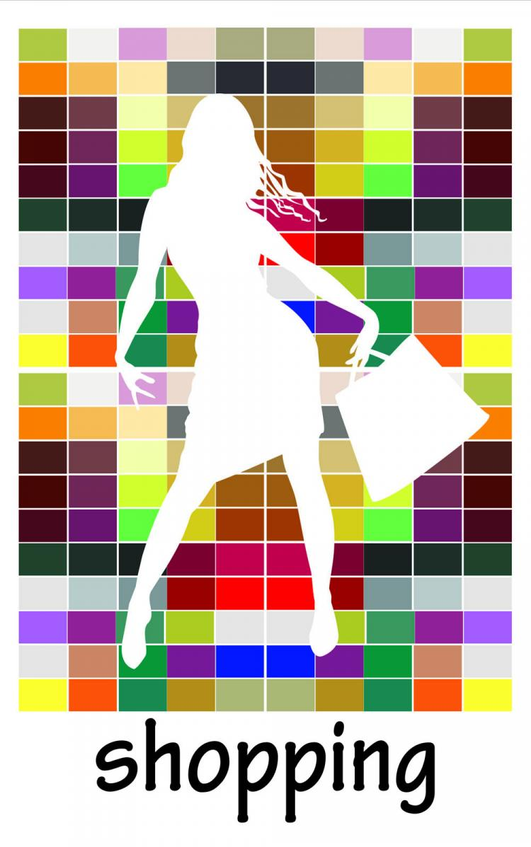 free vector Fashion shopping beauty silhouette 03 vector