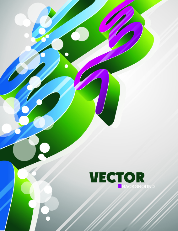 free vector Fashion threedimensional geometric vector background