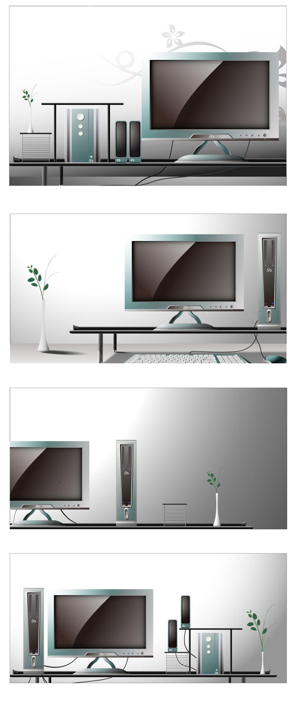 free vector Fashion vector 4 indoor home