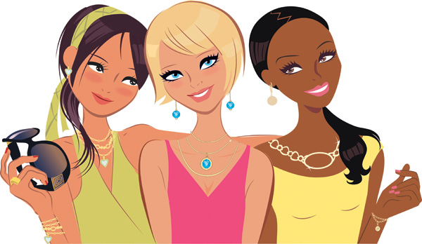 free vector Fashion women vector set
