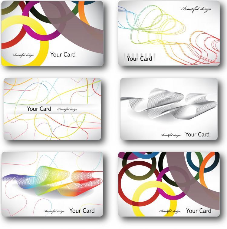 free vector Fashionable streamline card template vector