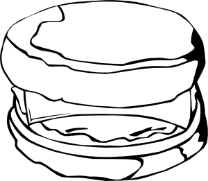 free vector Fast Food Breakfast Egg And Cheese Biscuit clip art