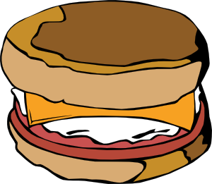 free vector Fast Food Breakfast Ff Menu clip art