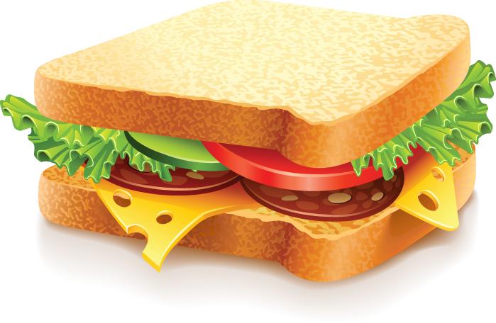 free vector Fast Food Vector Sandwich