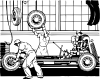 free vector Fastening The Wheels clip art