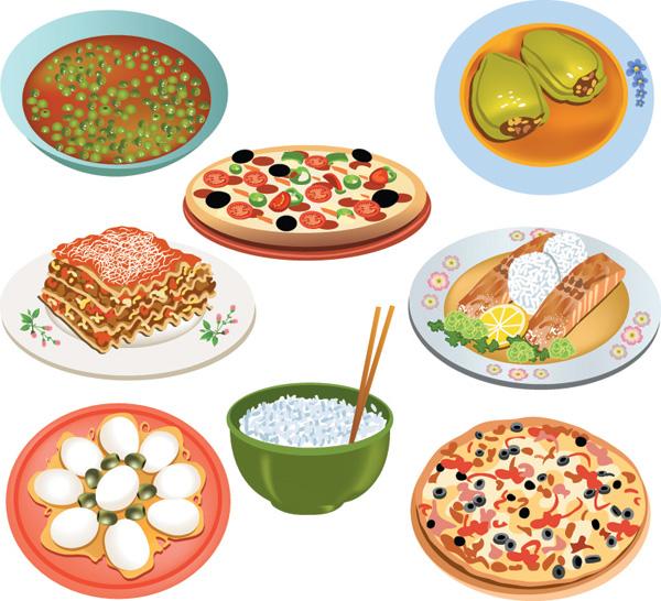 free vector Fastfood breakfast pastries vector