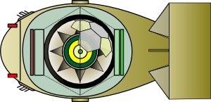 free vector Fat ManInterior Of Atomic Bomb clip art