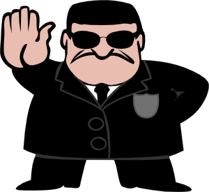 free vector Fbi Dude clip art