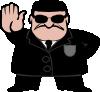 free vector Fbi Dude clip art