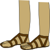 free vector Feet In Sandals clip art