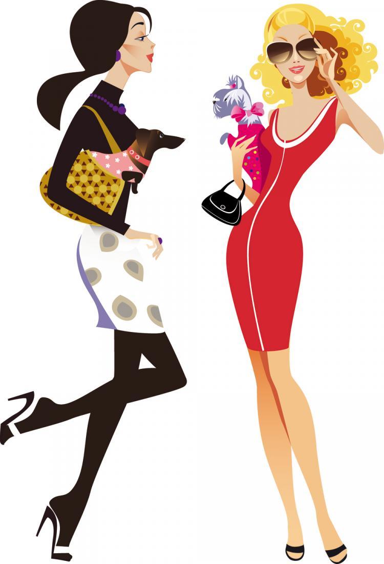 Female fashion illustrator 01 vector Free Vector / 4Vector