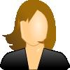 free vector Female User Icon clip art