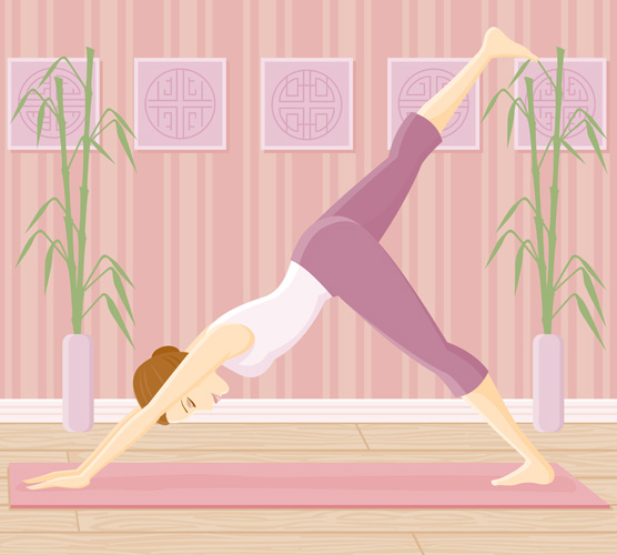 free vector Female Vector yoga exercise