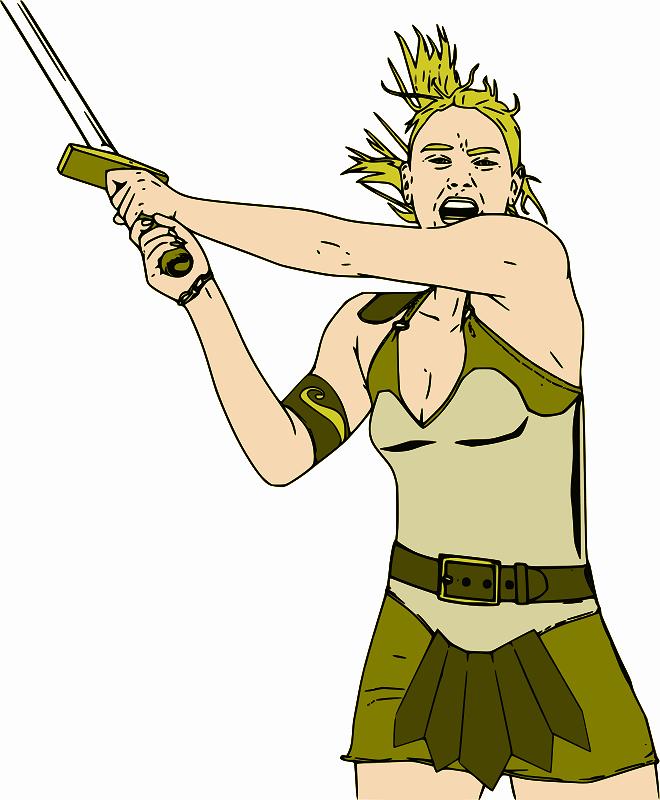 free vector Female Warrior - Color